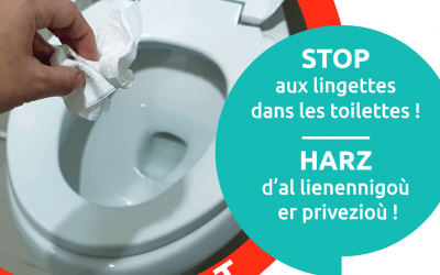 Stop aux lingettes dans les toilettes !