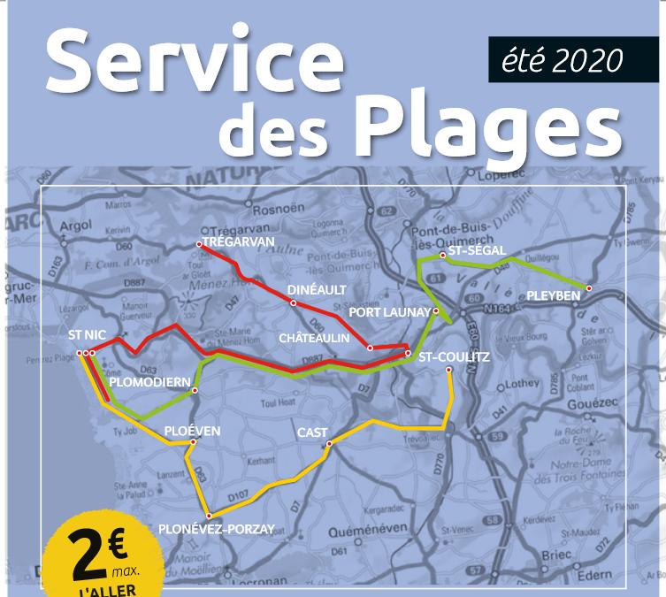 Bus des plages – Du 6 juillet au 30 août 2020